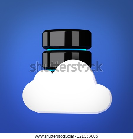 Database and cloud computing concept - stock photo