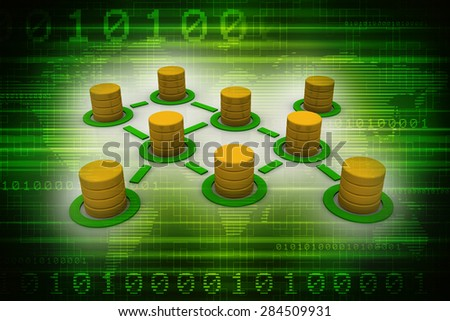 Database and networking concept - stock photo