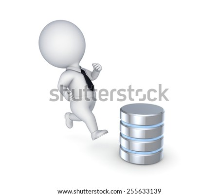 Database concept, 3D rendered illustration isolated on white. - stock photo