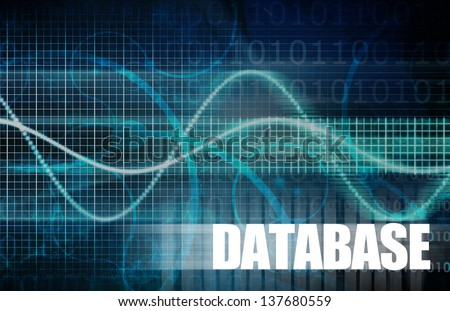 Database Concept for a Corporate Data Allocation - stock photo