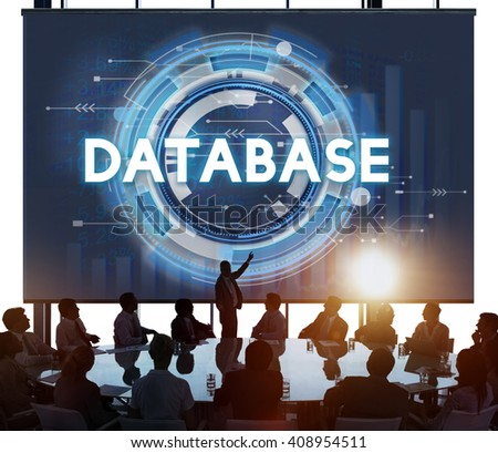 Database Cyber Information Trade Growth Concept