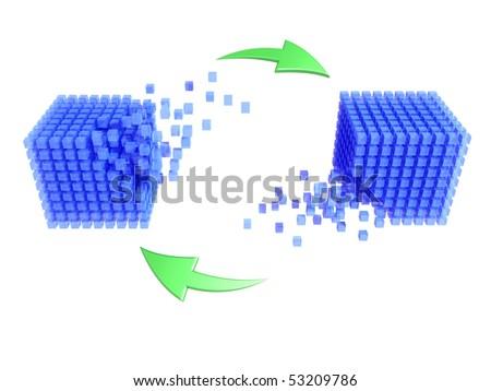 Database - synchronization - stock photo