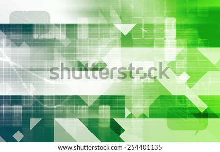 Database System with Updating Data Online Art - stock photo