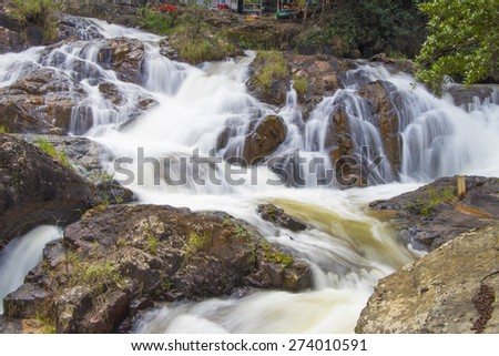 Datanla waterfall in Da Lat city (Dalat), Vietnam
