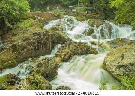 Datanla waterfall in Da Lat city (Dalat), Vietnam - stock photo