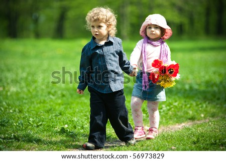 date in park - stock photo