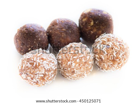 Dates and coconut nutrition power balls. Gluten Free and Homemade