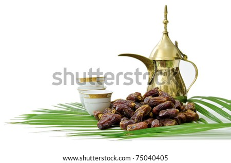 Dates Fruits with Arabic Coffee Pot