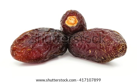 dates Isolated with white background