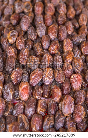 Dates on the market in Marrakesh, Morocco - stock photo
