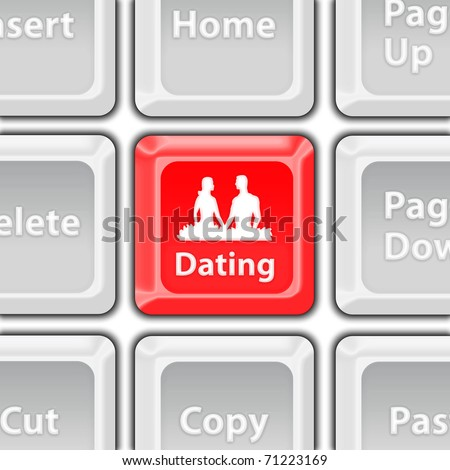 dating button - stock photo