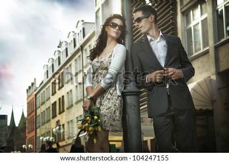 Dating couple - stock photo