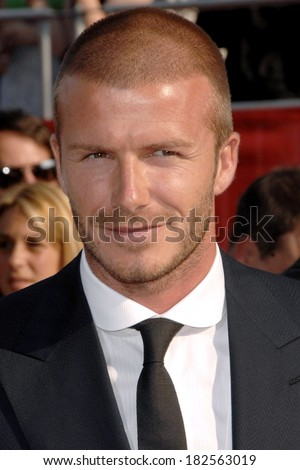 David Beckham at ARRIVALS - The 2008 ESPY Awards, NOKIA Theatre LA LIVE, Los Angeles, CA, July 16, 2008 - stock photo
