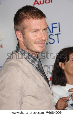 "David Beckham at the AFI Fest 2007 opening night gala presentation of ""Lions for Lambs"" at the Cinerama Dome, Hollywood. November 2, 2007  Los Angeles, CA Picture: Paul Smith / Featureflash - stock photo"