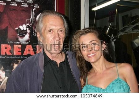 David Carradine and Alicia Arden at a Special Industry Screening of 'Break'. Laemmle's Music Hall 3, Beverly Hills, CA. 05-01-09