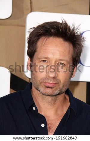 David Duchovny at the CBS, Showtime, CW 2013 TCA Summer Stars Party, Beverly Hilton Hotel, Beverly Hills, CA 07-29-13 - stock photo