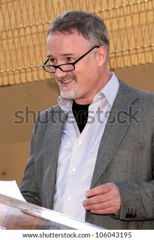 David Fincher   at the ceremony honoring Cate Blanchett with the 2,376th star on the Hollywood Walk of Fame. Hollywood Boulevard, Hollywood, CA. 12-05-08 - stock photo