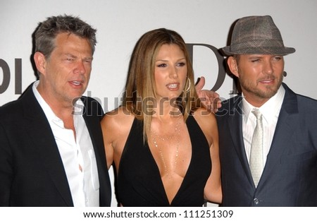 """David Foster with Daisy Fuentes and Matt Goss at the """"Class Of Hope Prom 2007"""" Charity Benefit hosted by Sharon Stone and Kelly Stone. Sportsmen's Lounge, Studio City, CA. 04-21-07 - stock photo"""