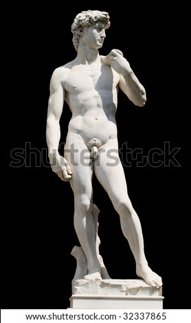 David isolated - stock photo