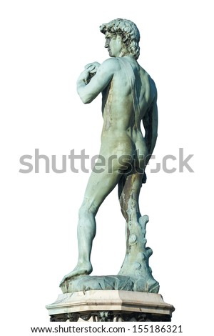 David (Michelangelo), back view - stock photo
