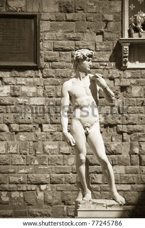 David's Statue, Florence, Italy - stock photo