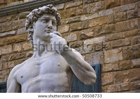 david statue in florence, italy - stock photo