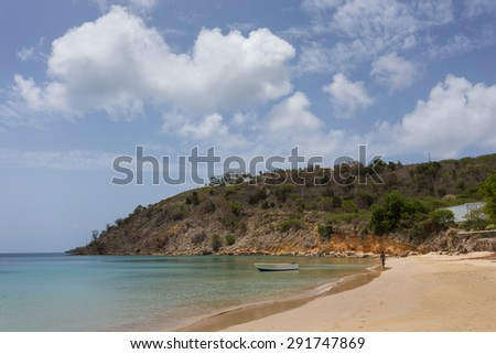 Davida Beach on Anguilla island, Caribbean - stock photo