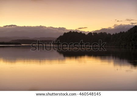 Dawn at Okarito Lake, South Island, New Zealand