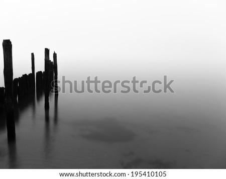 dawn at the coast of Ruegen Island in Germany - stock photo