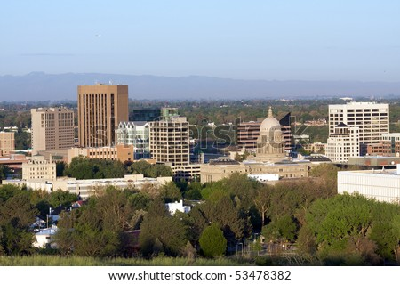 Dawn in Boise, Idaho - stock photo
