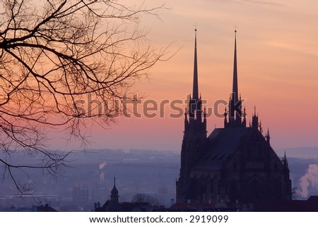 Dawn in Brno - stock photo