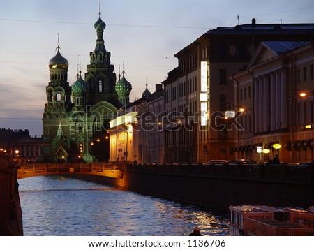 Dawn in St.-Petersburg - stock photo