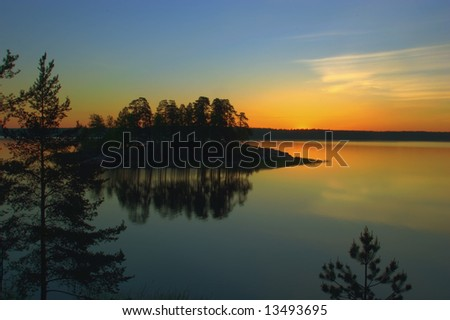 Dawn of the white nights - stock photo