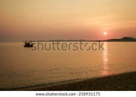 Dawn on the sea - stock photo