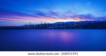 Dawn Over Loch Ness - stock photo