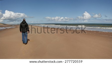 Day at the beach - Panorama - stock photo