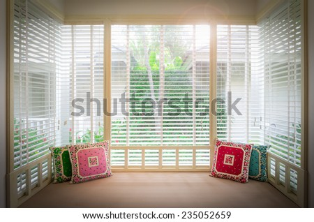 Day Bed in living room interior - stock photo