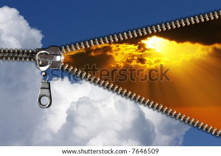 Day comes to an end  evening begins - stock photo