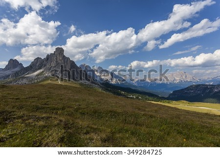 Day in the mountains - Dolomites, Italy - stock photo