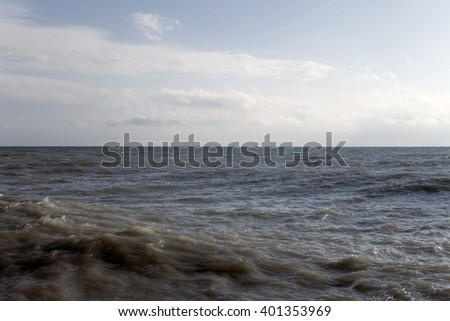 Day landscape with the sea and  sky