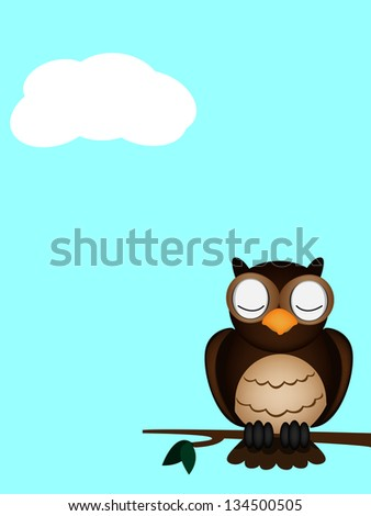 day of owl sleeping - stock photo