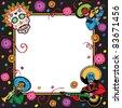 Day of the Dead or Cinco de Mayo Party Invitation - stock photo
