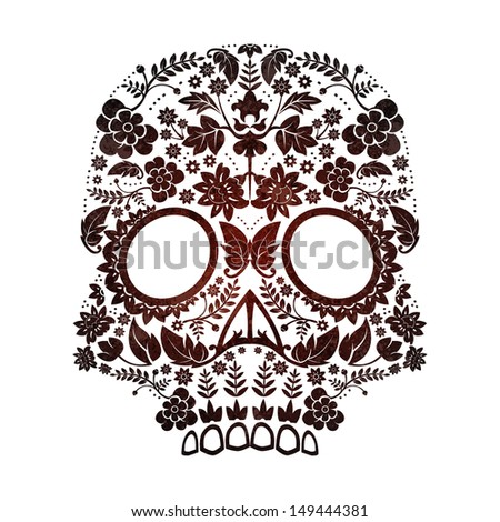 day of the dead skull - stock photo