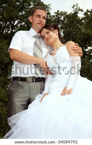 Day of wedding the most solemn and unforgettable in a life of each person. - stock photo