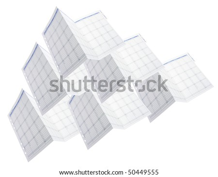 Day Planner Calendars on White Background
