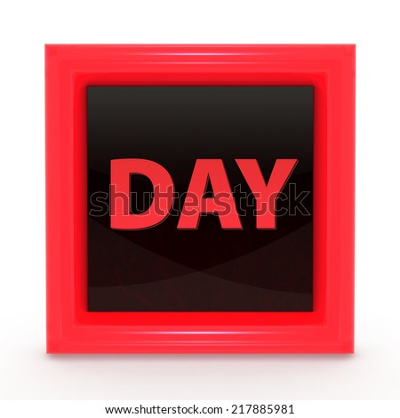 Day square icon on white background