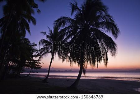 day sunrise in Koh Muk island, Thailand - stock photo