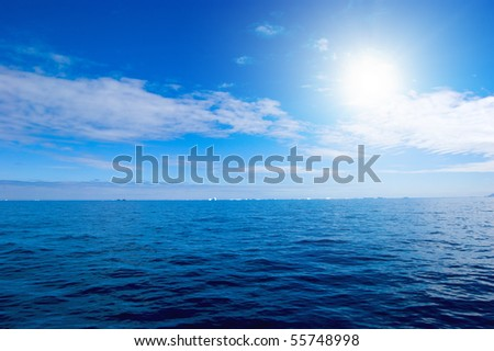 Day. Sunset. Clouds. Sea. Idill. - stock photo