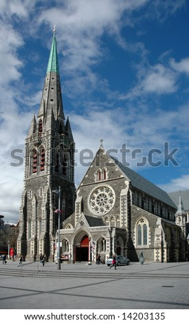 Day view of the Christchurch Cathedral