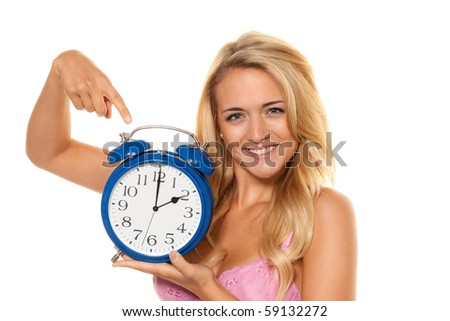 Daylight-saving time and Uhrumstellung of summer time to winter time - stock photo